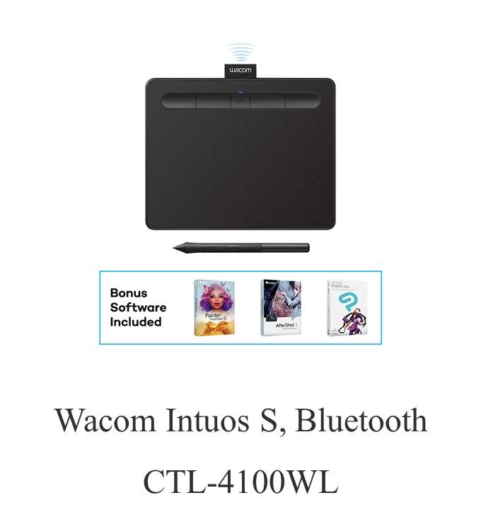 Wacom Intuos S, Bluetooth CTL-4100WL Pen Tablet